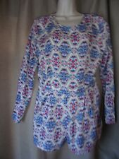 LADIES SUMMER PLAYSUIT CREAM ROSE/PAISLEY  NWT BY GLAMOROUS SIZE 12