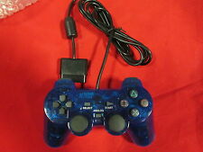 Replacement Controller Transparent Blue For PlayStation 2 Brand New 7323