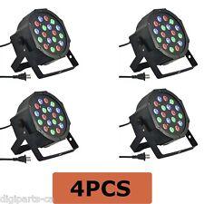4PCS 4 Pack 18 3 in 1 RGB PAR LED DMX512 Disco DJ Stage Lighting (71-052X4PCS)