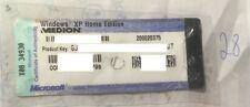 Windows XP Home Edition-serial key-OEM Label medion - 28