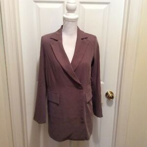 4th + Reckless Blazer US 0 Petite Taupe Long Sleeve New NWT