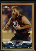 TRAVIS FREDERICK 19/50 COWBOYS ROOKIE GOLD REFRACTOR 157 RC SP 2013 TOPPS CHROME
