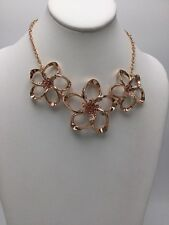 $159 Ted Baker Rose Gold  Tone Crystal Blossom Statement  Pendant TB5