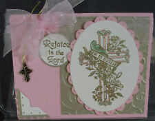 Stampin Up rubber stamp REJOICE IN THE LORD double letters BEAUTIFUL EASTER