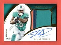 LAMAR MILLER 2015 IMMACULATE AUTOGRAPH JUMBO 3 COLOR PATCH AUTO # / 99 DOLPHINS