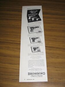 1954 Print Ad Browning Automatic Pistols 9mm, .380, .25 Caliber St louis,MO