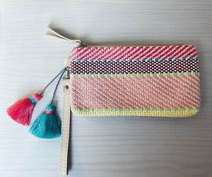 Pink Multicolour Holiday Purse With Tassels
