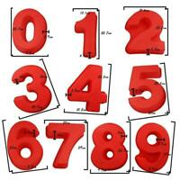 Large Silicone Number Molds 0-9 Arabic Number Cake Mold Silicone Grade Food A5D7