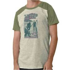 Vintage Zz Top Tres Hombres Concert 1980s Adult Raglan Short Sleeve T Shirt