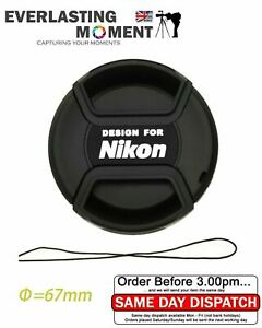 LC-67 Centre Pinch lens cap for Nikon Lenses fit 67mm filter thread