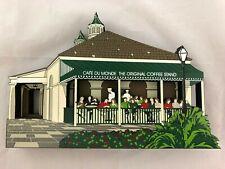 Shelia's 2002 Wood Block Village Decor: Cafe Du Monde, New Orleans Lou08
