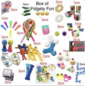 25 PIECE FIDGET TOY BOX-Snake Bike Chain Pea Spinner Pop It Anxiety ADHD Autism