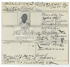 Wanted Notice - R. P. Williams/Murderer, National Police Officer, Arkansas, 1935