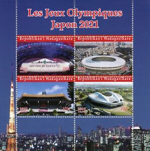Madagascar Olympics Stamps 2021 MNH Tokyo Japan Summer Games Sports 4v M/S