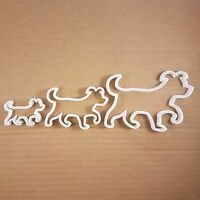 Dog Pooch Pet Doggy Puppy Shape Cookie Cutter Dough Biscuit Pastry Fondant Sharp
