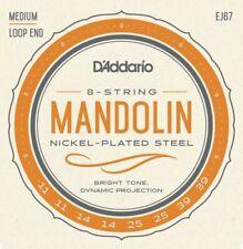 More details for d'addario ej67 nickel plated steel mandolin strings medium gauge 11-39 loop end
