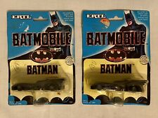 (2) Vintage ERTL Batmobile - 1989 Batman The Movie - 1/64 Scale - New On Card