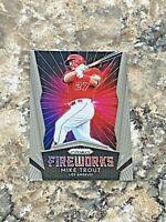 2019 Panini Prizm Fireworks Mike Trout #F1 Los Angeles Angels MLB Baseball Card
