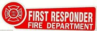 FIRST RESPONDER - Fire Department Highly Reflective Red Vinyl  DECAL