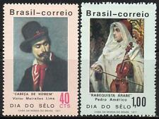 BRAZIL 1971 PAINTINGS / STAMP DAY MNH CV$6,75 COSTUMES, MUSIC