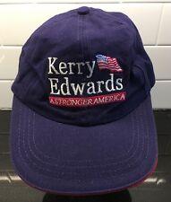 Vintage Kerry Edwards Baseball Cap Hat Presidential Campaign 2004 John President