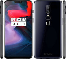 "New In Box OnePlus 6 Original Snapdragon 845 6+64GB 6.2"" 20MP Smartphone Black"