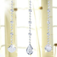 Clear Crystal Snowbeads Prism Hanging Suncatcher Ornament Decor for Window Set 3