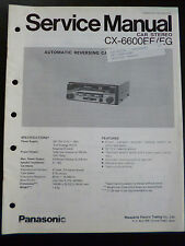 ORIGINALI service manual Panasonic cx-6600ee/eg