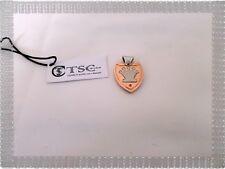 Pendentif Plaque Ecusson Fantaisie Métal Cuivre Rose et Argenté TSC Jewels Neuf