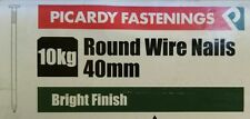 Round Wire Nails 40mm BZP DIY Construction Supplies Timber Woodwork 100g