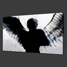 Unframe Canvas Prints Banksy Angel Black Canvas Wall Art Pictures Home Decor
