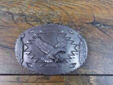 1993 ARROYO GRANDE BUCKLE CO BALD EAGLE PEWTER BELT BUCKLE AG87