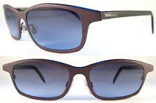Rare MOMO DESIGN Lightweight Gents/Herren Sunglasses Titanium, Brown/Black/Blue