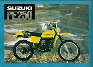 SUZUKI PE250 MOTORCYCLE BROCHURE