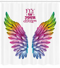 Shower Curtain Fly to Your Dream Wording Print for Bathroom