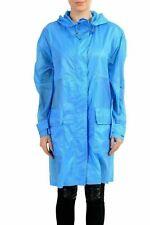 Versace Collection Blue Women's Rain Coat US S IT 40