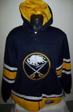"BUFFALO SABRES ""Cross Check"" Full Zip Hooded Jacket Hoody BLUE MED, LG, 2X"
