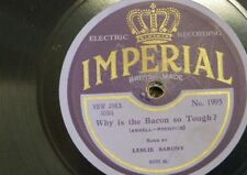 78 rpm LESLIE SARONY why is the bacon so tough / you can feel it doing you good