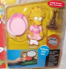 ✰ Playmates The Simpsons Series 9 ✰ SUNDAY BEST LISA ✰ Interactive Action Figure