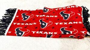 "NFL Houston Texans  Big Logo Acrylic Scarf 64"" by 12"" With Black Fringes"