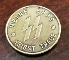 WW2 WWII German coin SS Elite Kampft Weiter 1 Schilling Kantine bar money.,.