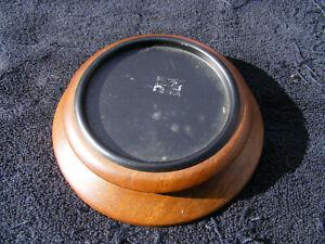 "Mango Wood Plate Tray Pillar Candle Holder 5"" Diameter"