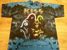 Kiss Caras Tiedye Oficial Camiseta Talla EE. UU. XL con libre UK FRANQUEO