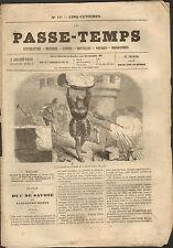 JOURNAL LE PASSE-TEMPS ALEXANDRE DUMAS FRERES COGNIARD THEATRE 1860