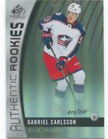 17/18 SP GAME-USED SILVER RAINBOW ROOKIE RC #89 GABRIEL CARLSSON 010/220 *51011