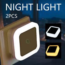 2PCS Automatic LED Child Safety Night Light Plug in Low Energy Saving Light UK