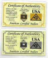 Holiday Gift 24K 99.9/% Gold Plated $100 Bank Note w//Certificate//Paperweight