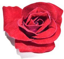 Nuevo 9 cm rojo profundo tela clarete HORQUILLA flor rosa el pelo pinza de Moda para Mujer