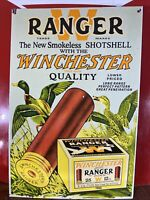 1950 VINTAGE ''WINCHESTER'' RANGER SMOKELESS 11X16.5 IN. PORCELAIN DEALER SIGN