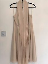 Women's Coast Cream Halter Neck Pleated Dress Size 12
